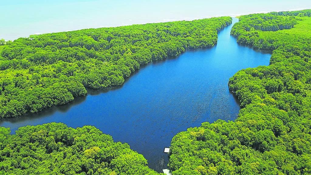 La laguna de Cacao, Honduras