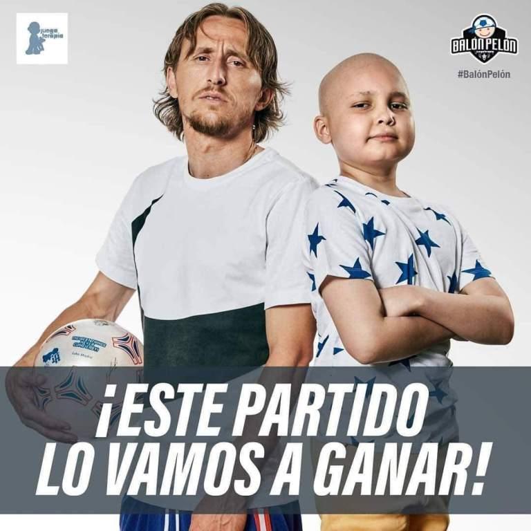 Jorge Carranza participó en campaña de niños con cáncer junto a Modric