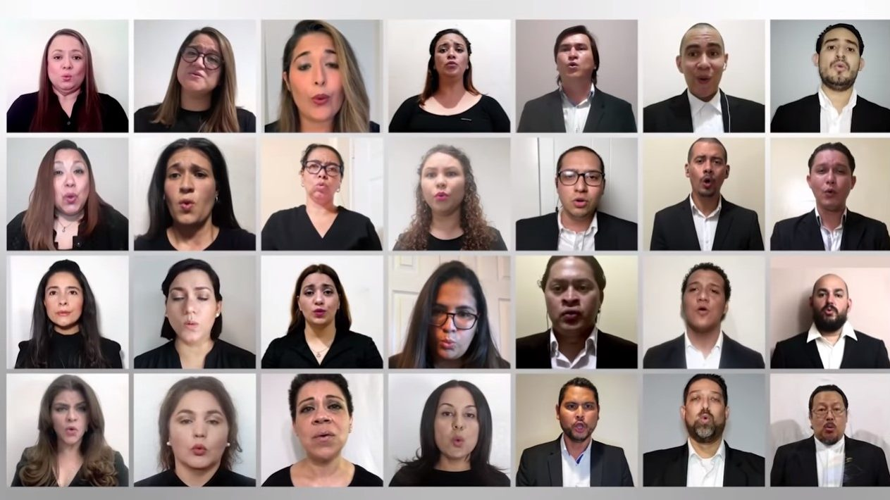 Coro Virtual de Honduras entonó himno por mes patrio