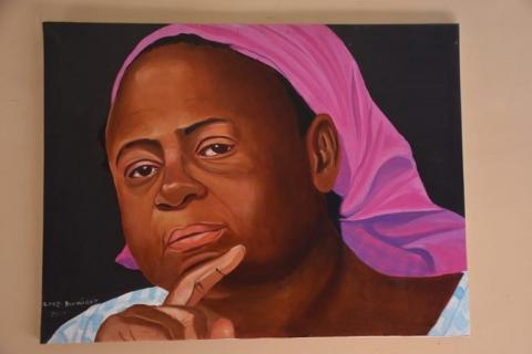 Cruz Bermúdez resalta la cultura garífuna con sus pinturas