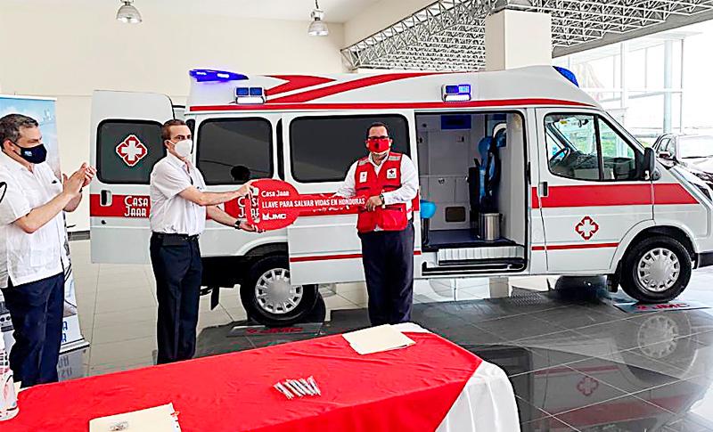 Cruz Roja Hondureña recibió la primera ambulancia para Covid-19