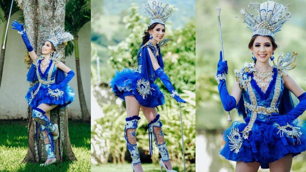 Diseñadora Carlota Molina creó un increíble traje para una palillona