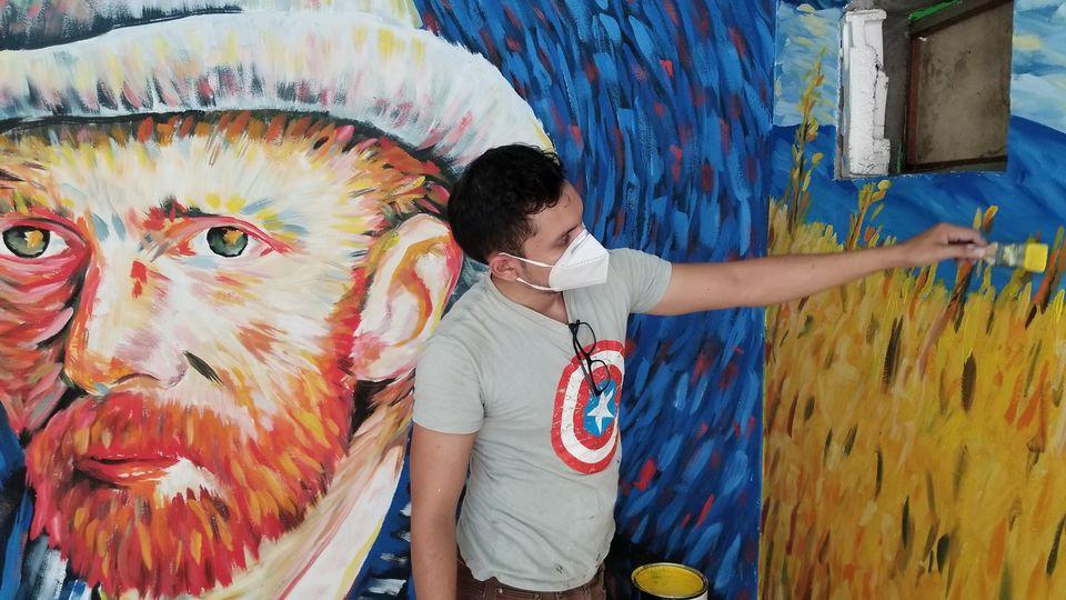 Kevin Rodríguez, artista hondureño que llena a Honduras de murales