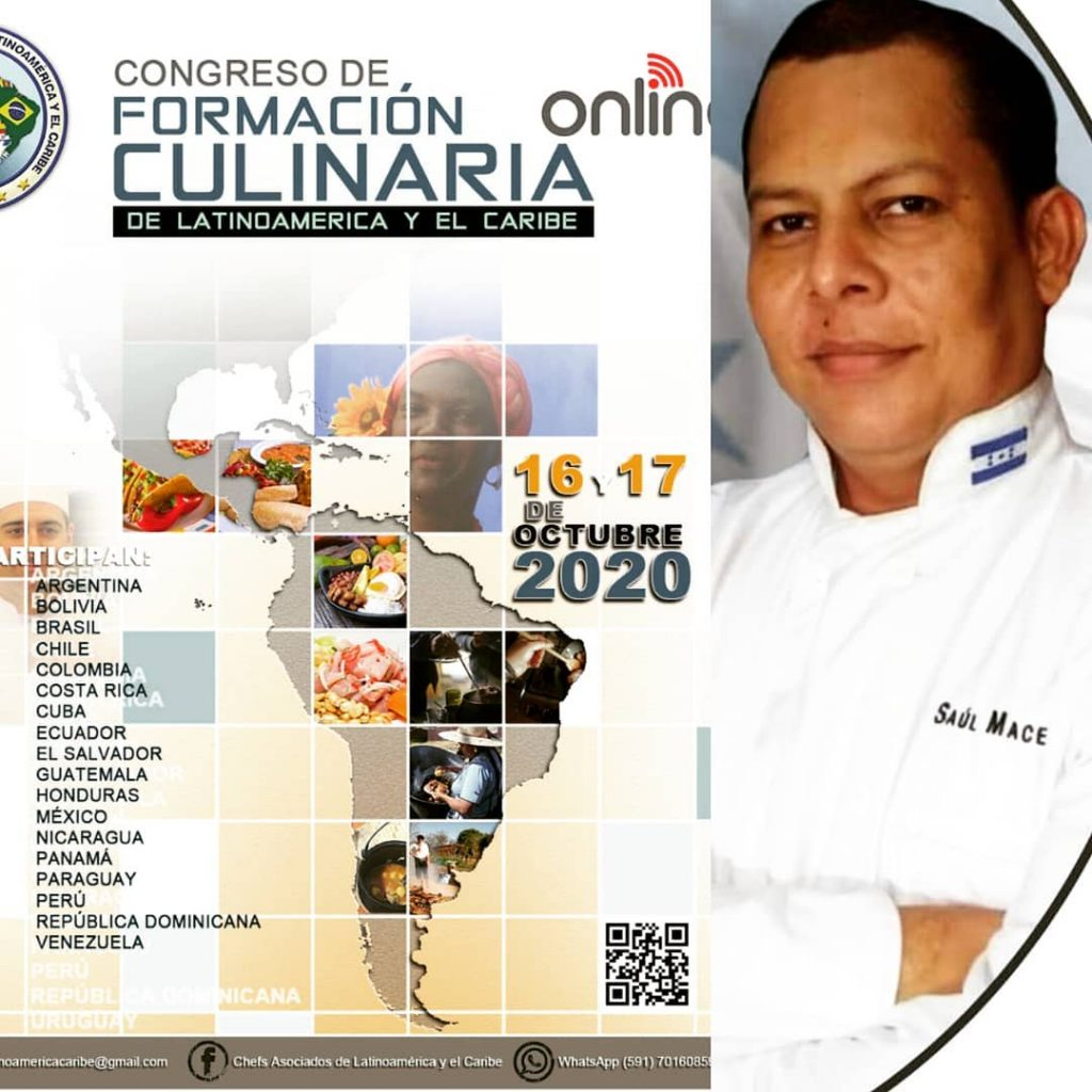 Saúl Macedo participará en el Congreso de Formación Culinaria en Bolivia