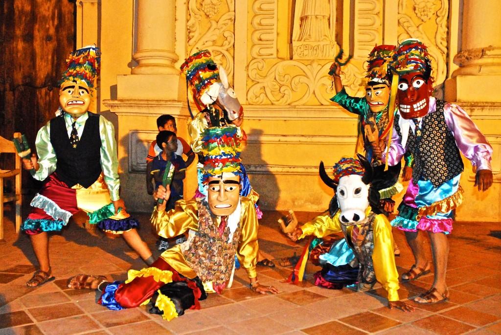 Celebración del baile de los Diablitos de Comayagua