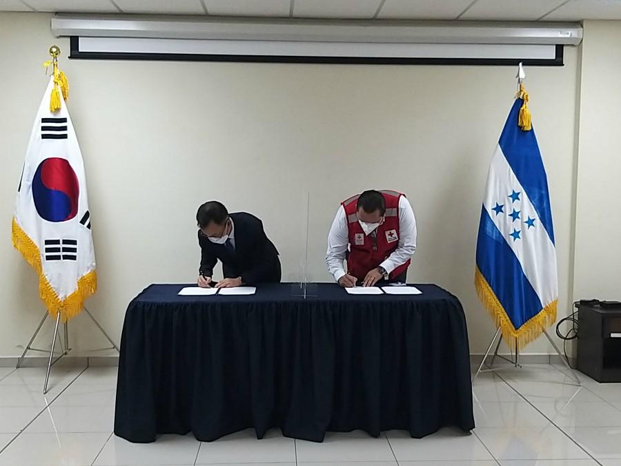 Corea del Sur entrega donación para damnificados en Honduras