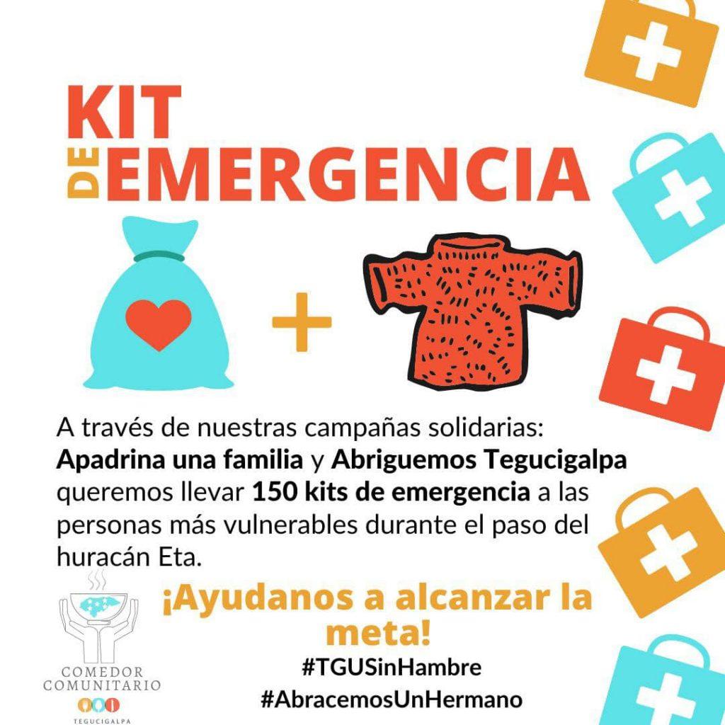 Organizaciones que reciben donaciones en Honduras por ETA
