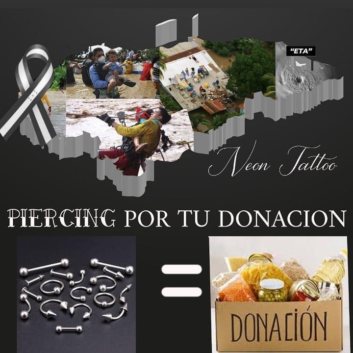 Neon Tatto recauda donaciones para afectados por ETA en Honduras