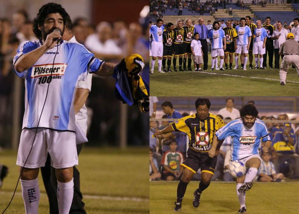 La visita del futbolista Diego Maradona a Honduras
