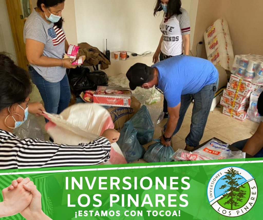 Minera Los Pinares donó alimentos a damnificados en Honduras