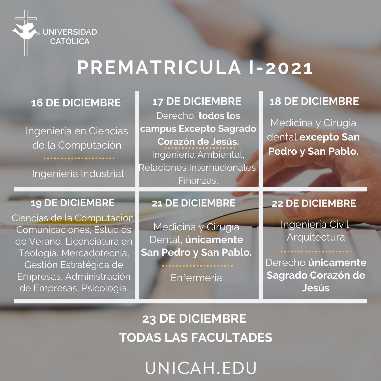 Proceso de inscripción Universidad Católica de Honduras