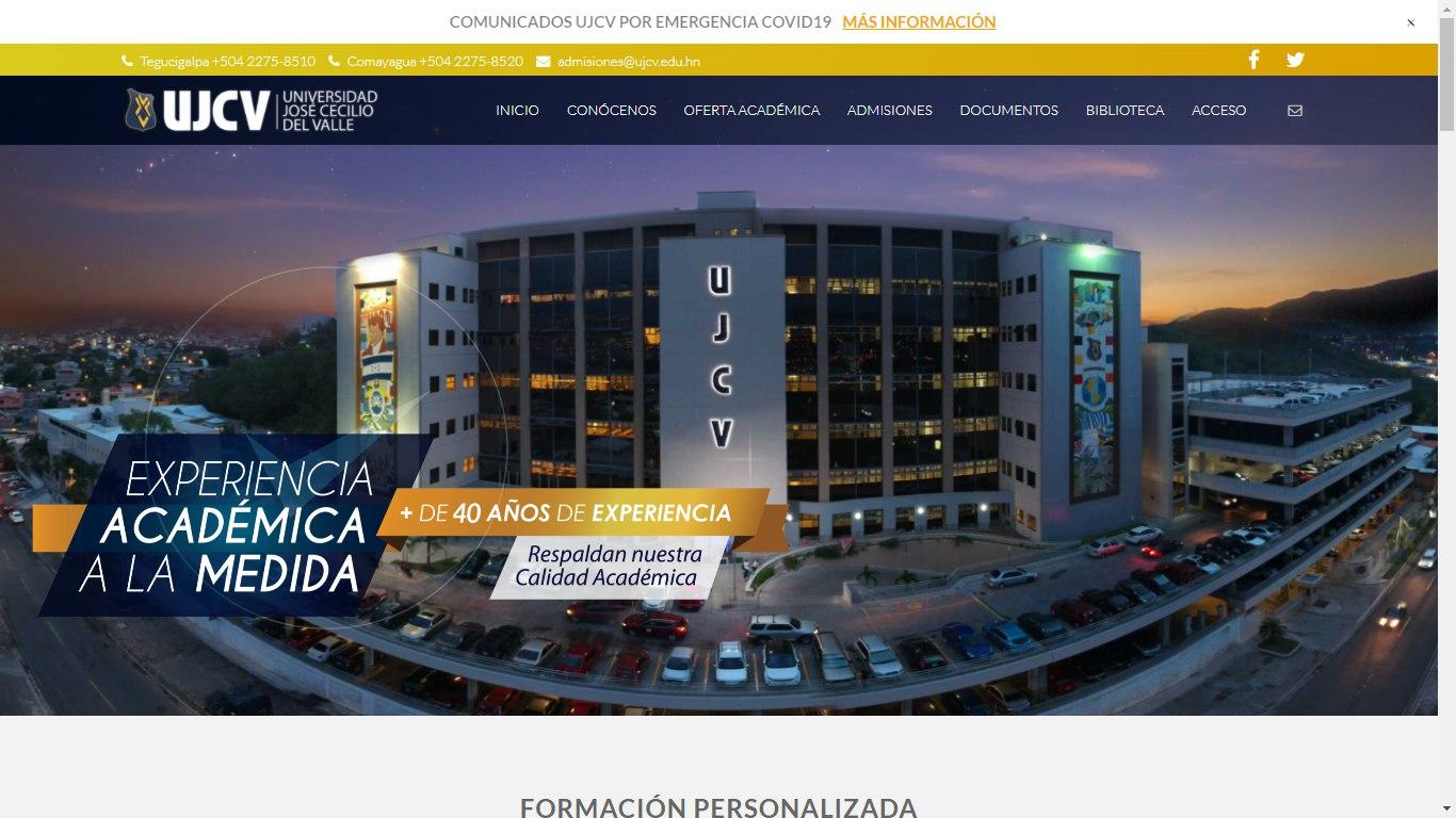 Proceso de admisión Universidad José Cecilio del Valle