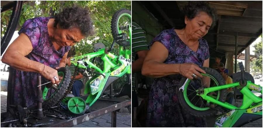 Yolanda Martínez, abuela hondureña destaca con su taller