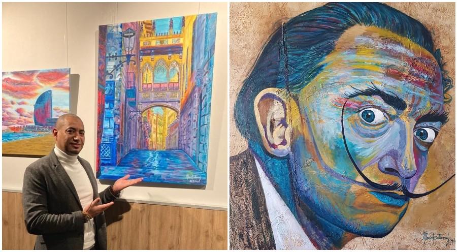 Mario Gutiérrez, pintor hondureño triunfa en galerías de Europa
