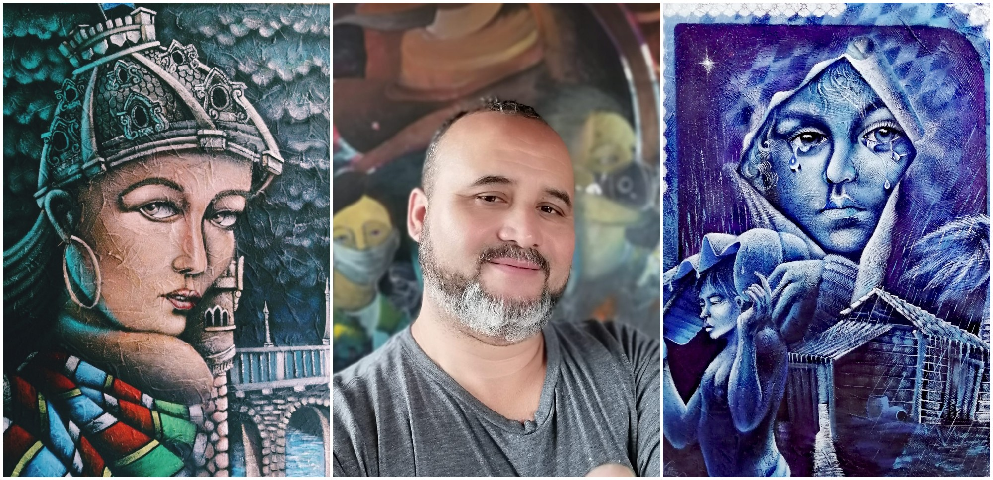 Walter López, artista hondureño destaca por su impresionismo mágico