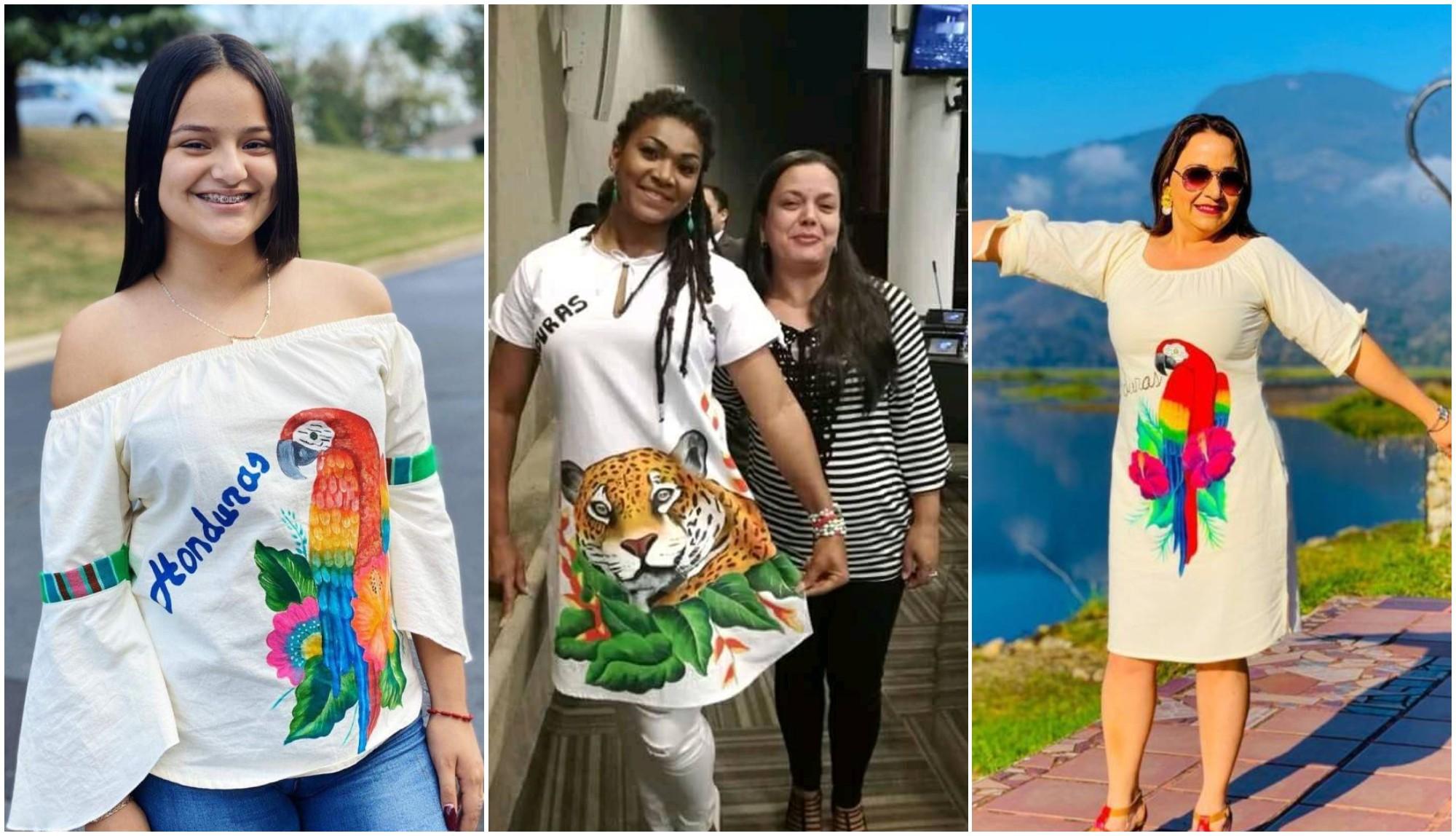 Hondureña destaca la cultura catracha en prendas y accesorios