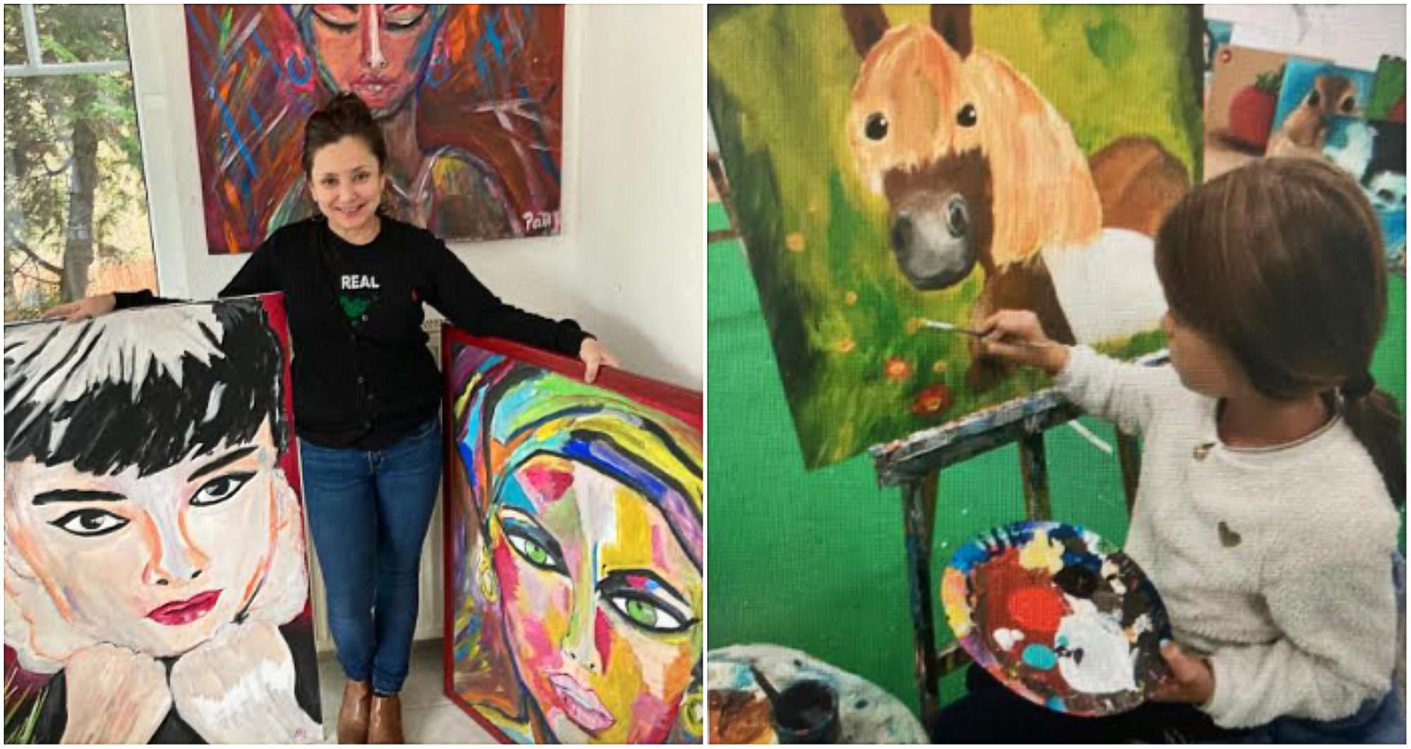 Patty Bueso, artista hondureña da clases de pintura en Alemania