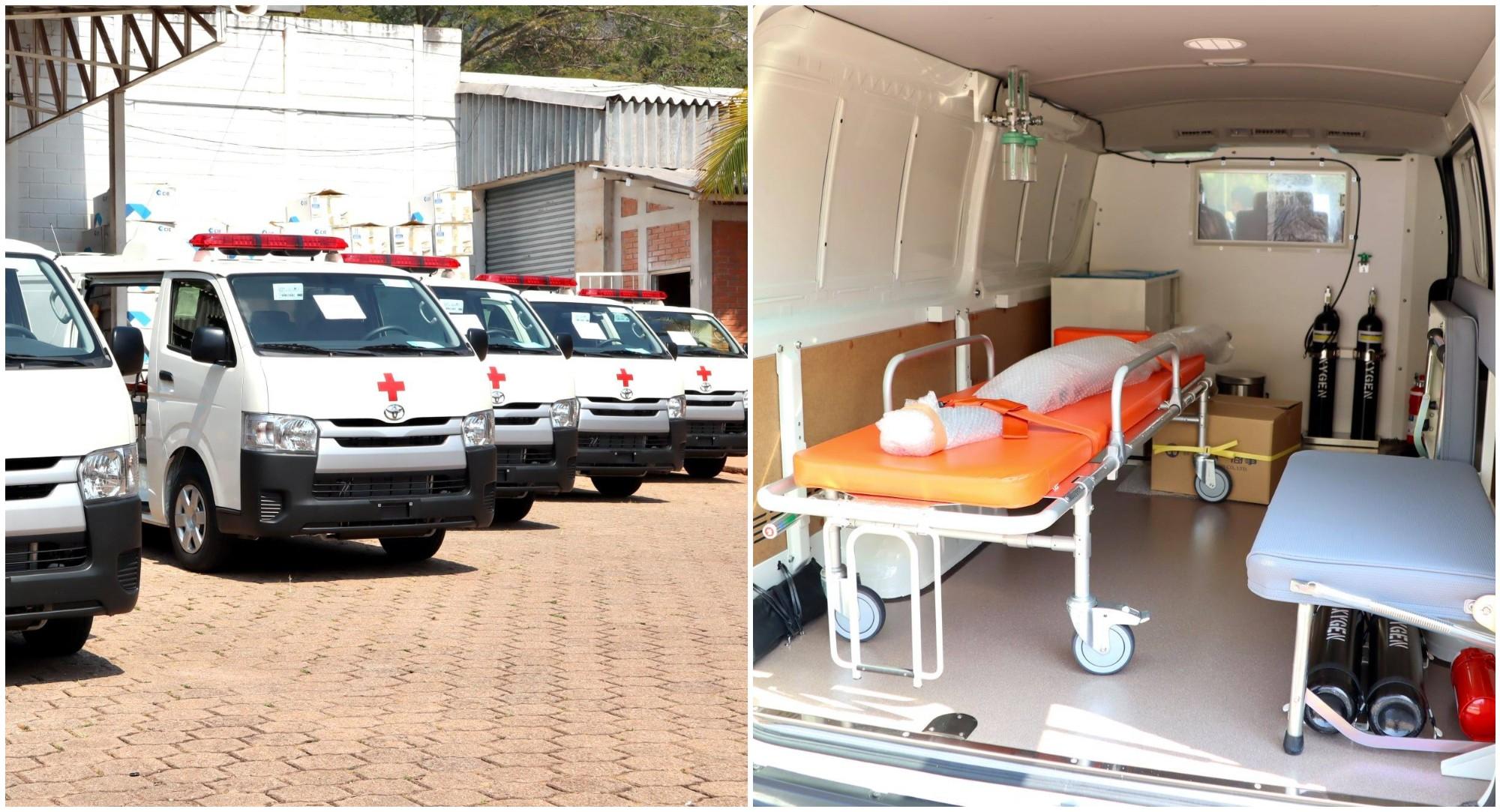 Japón dona ambulancias a hospitales de Honduras