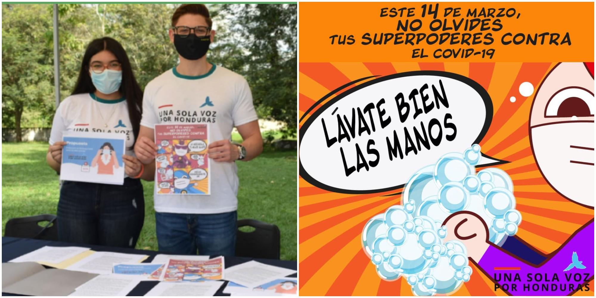 Jóvenes hondureños lanzan campaña para combatir el Covid-19