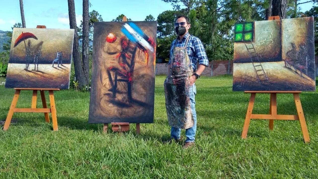 Lenin Romero, artista hondureño llena de vida Valle de Ángeles