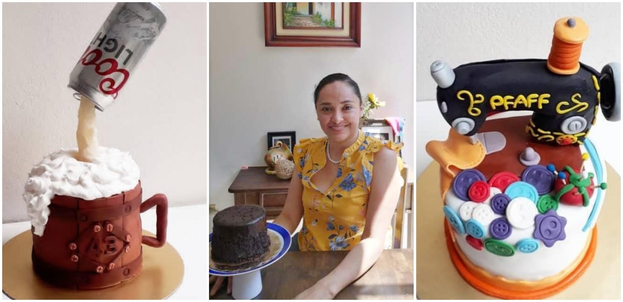 Hondureña destaca por sus pasteles de diseños únicos
