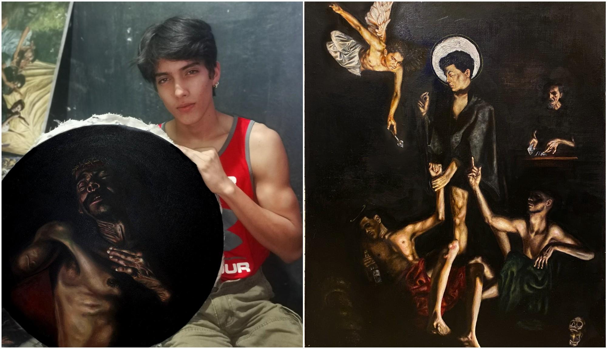 Hondureño crea impresionantes obras realistas basadas en pecados