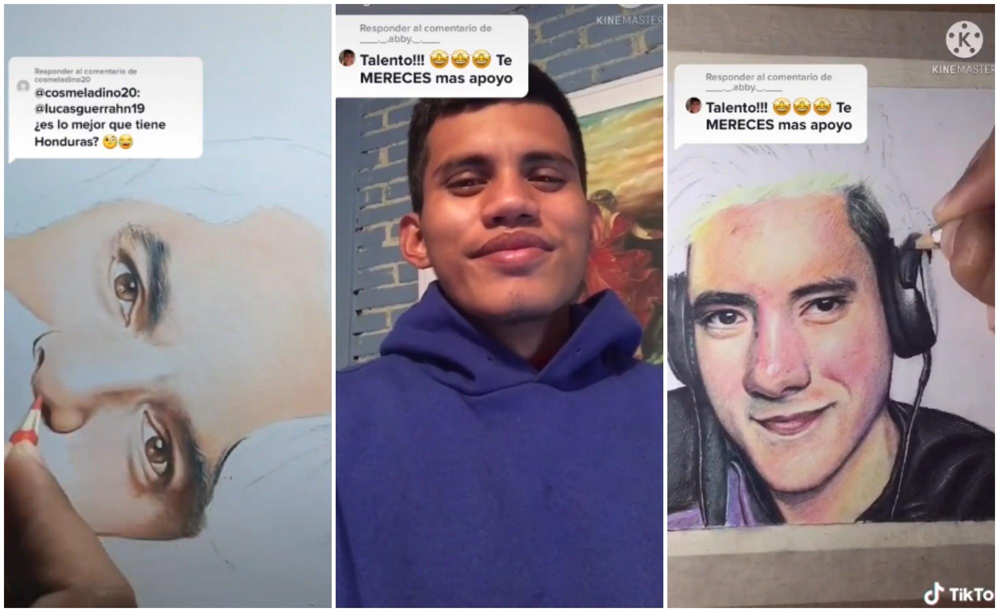 Lucas Guerra, artista hondureño se hace viral con sus TikToks de arte