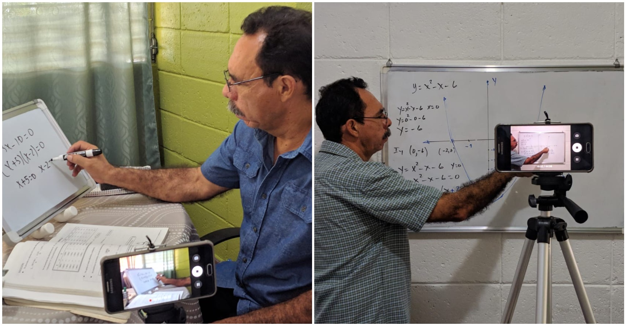 Profesor hondureño crea un canal de YouTube para ayudar a sus alumnos