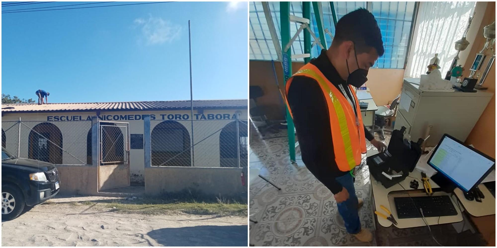 Hondureños instalaron gratuitamente internet en una escuela de Honduras