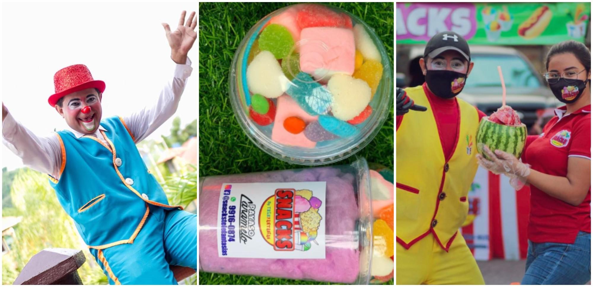 Payaso hondureño emprende con negocio de dulces y es una sensación