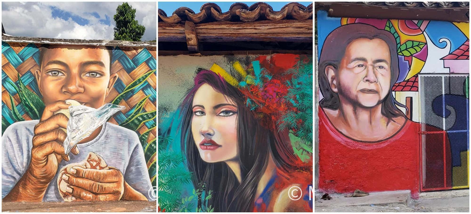 Arada, Santa Bárbara se llena de color en el Guancasco Muralista