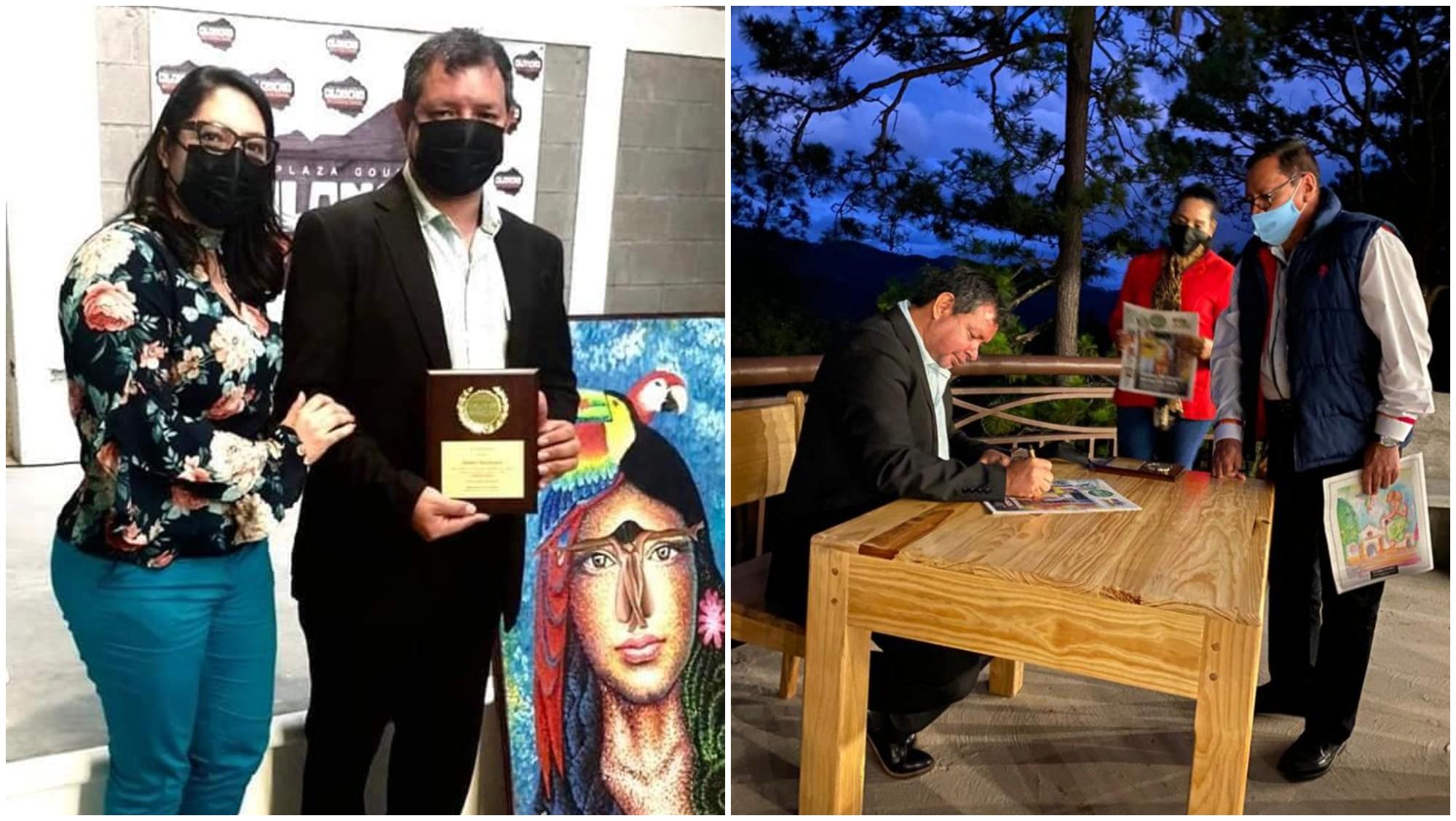 Johnny Macdonald, artista hondureño recibe premio por su trayectoria