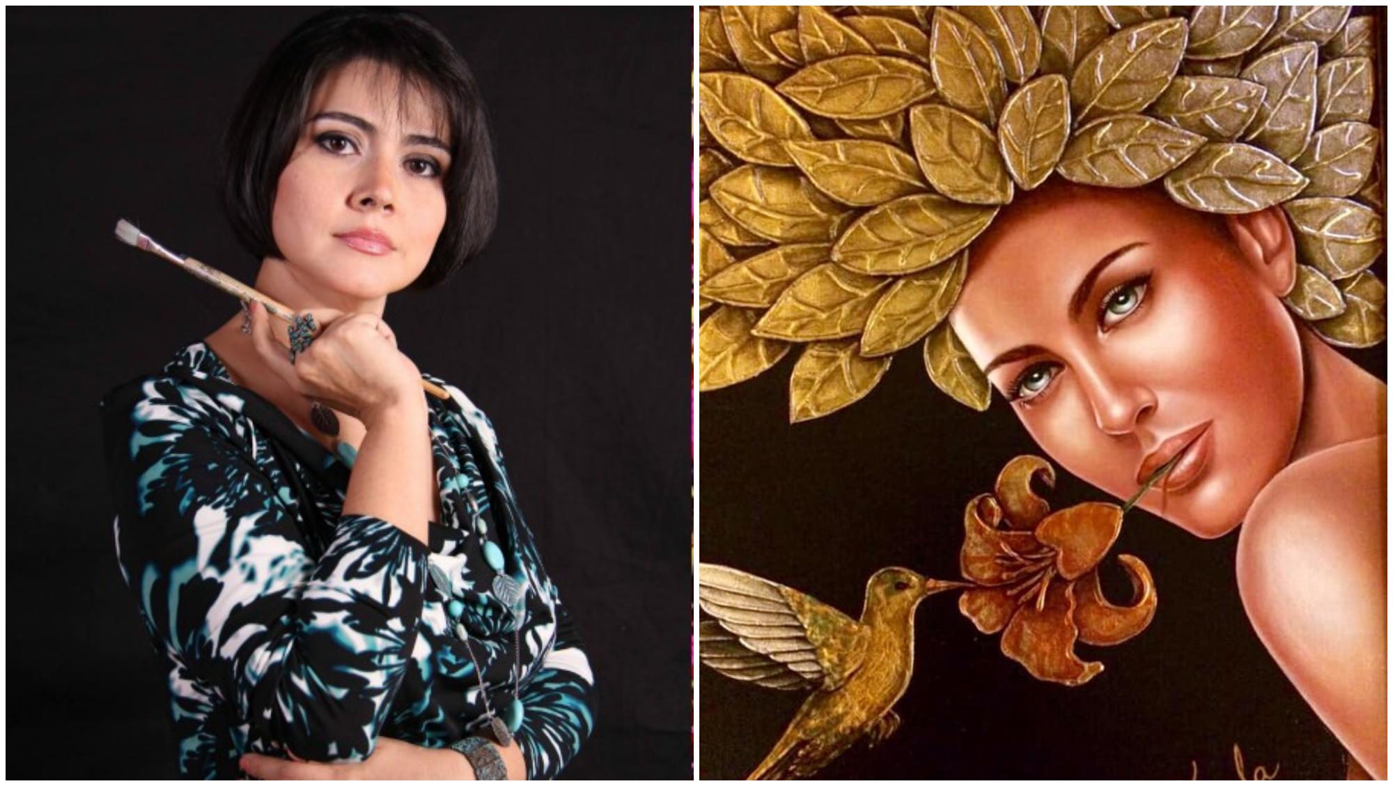 Artista hondureña Keyla Morel, presenta su obra en New Jersey