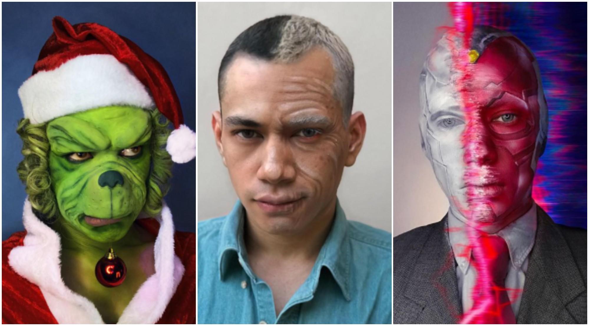 Hondureño Óscar Rodríguez destaca por su maquillaje artístico