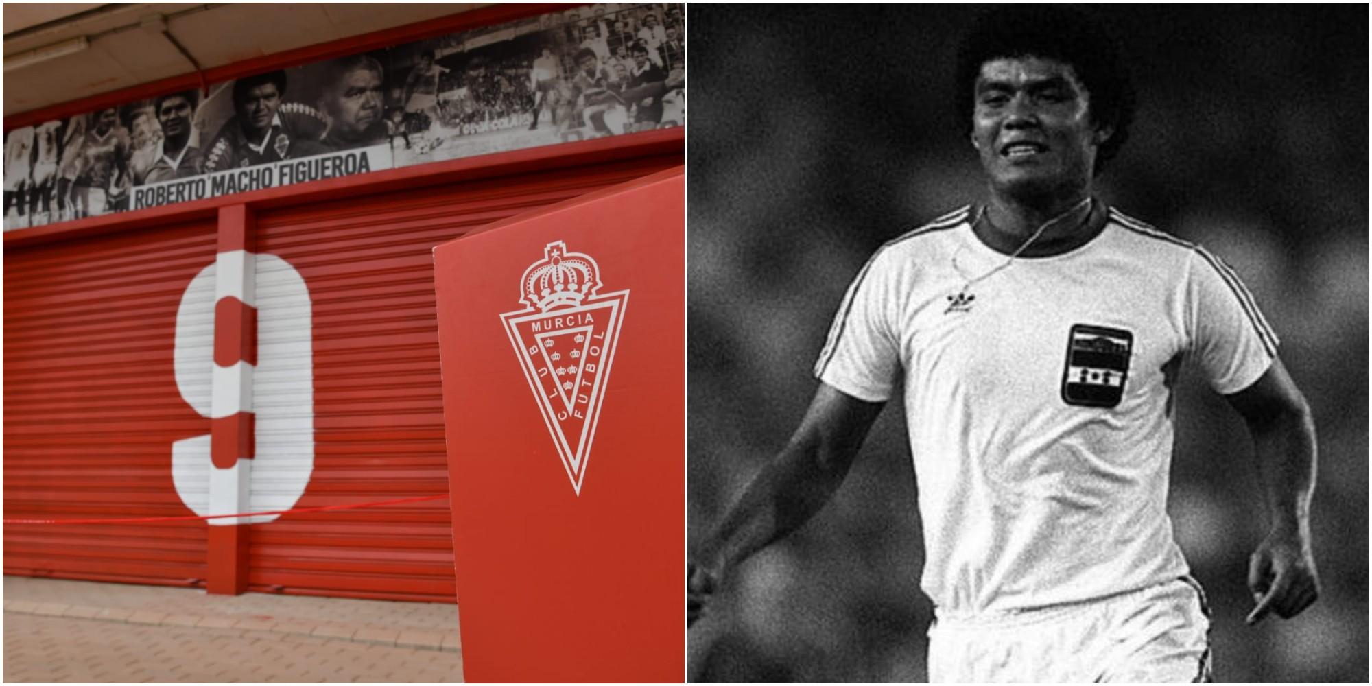 Real Murcia inaugura puerta 9 en honor a Roberto Figueroa