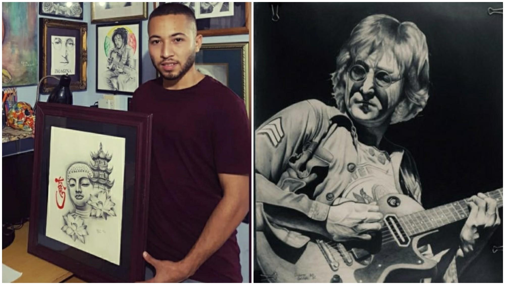 Hondureño Gabriel Galindo, crea impresionantes retratos realistas