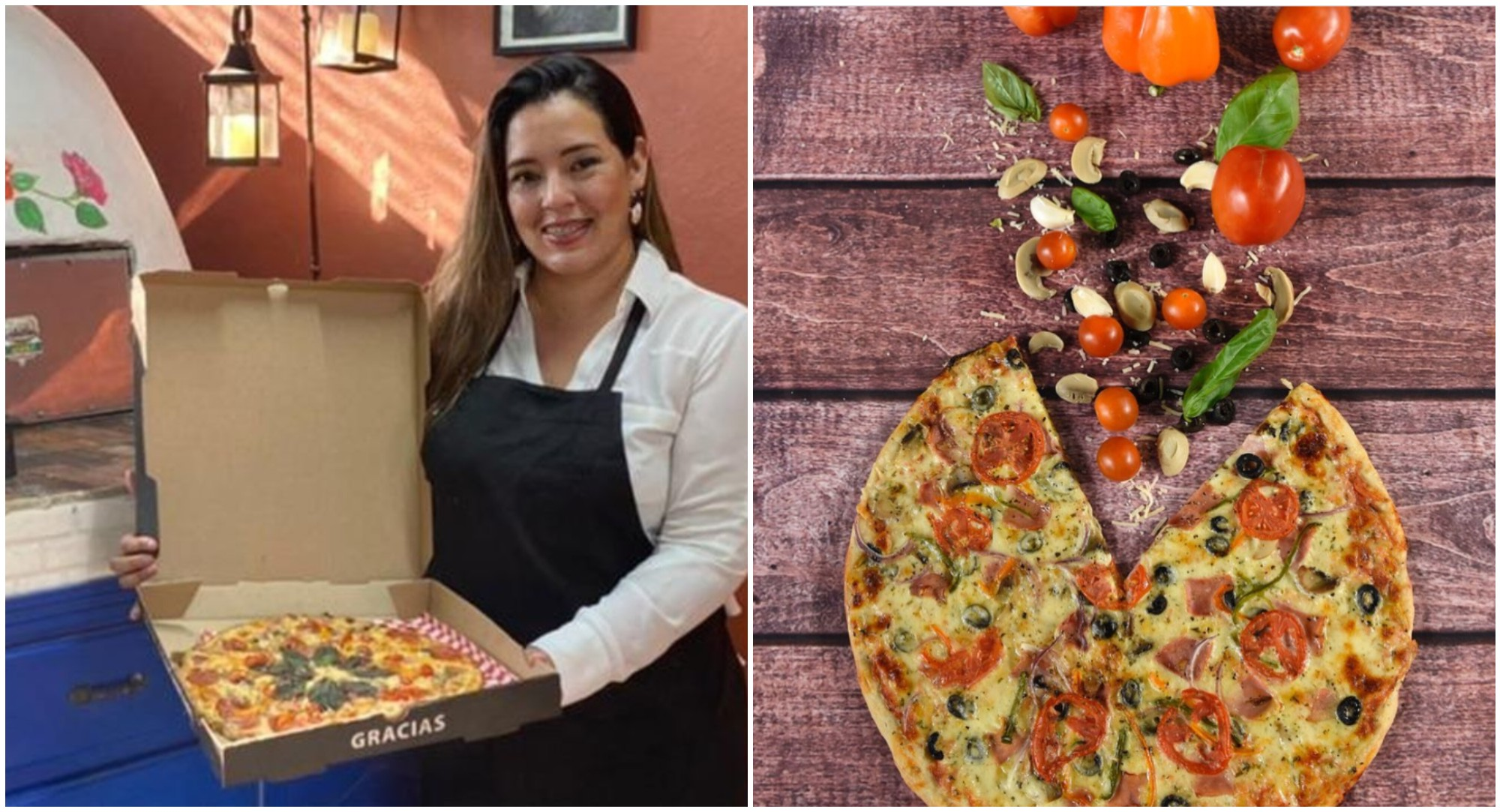 Psicóloga sampedrana emprende con pizzas al horno de barro