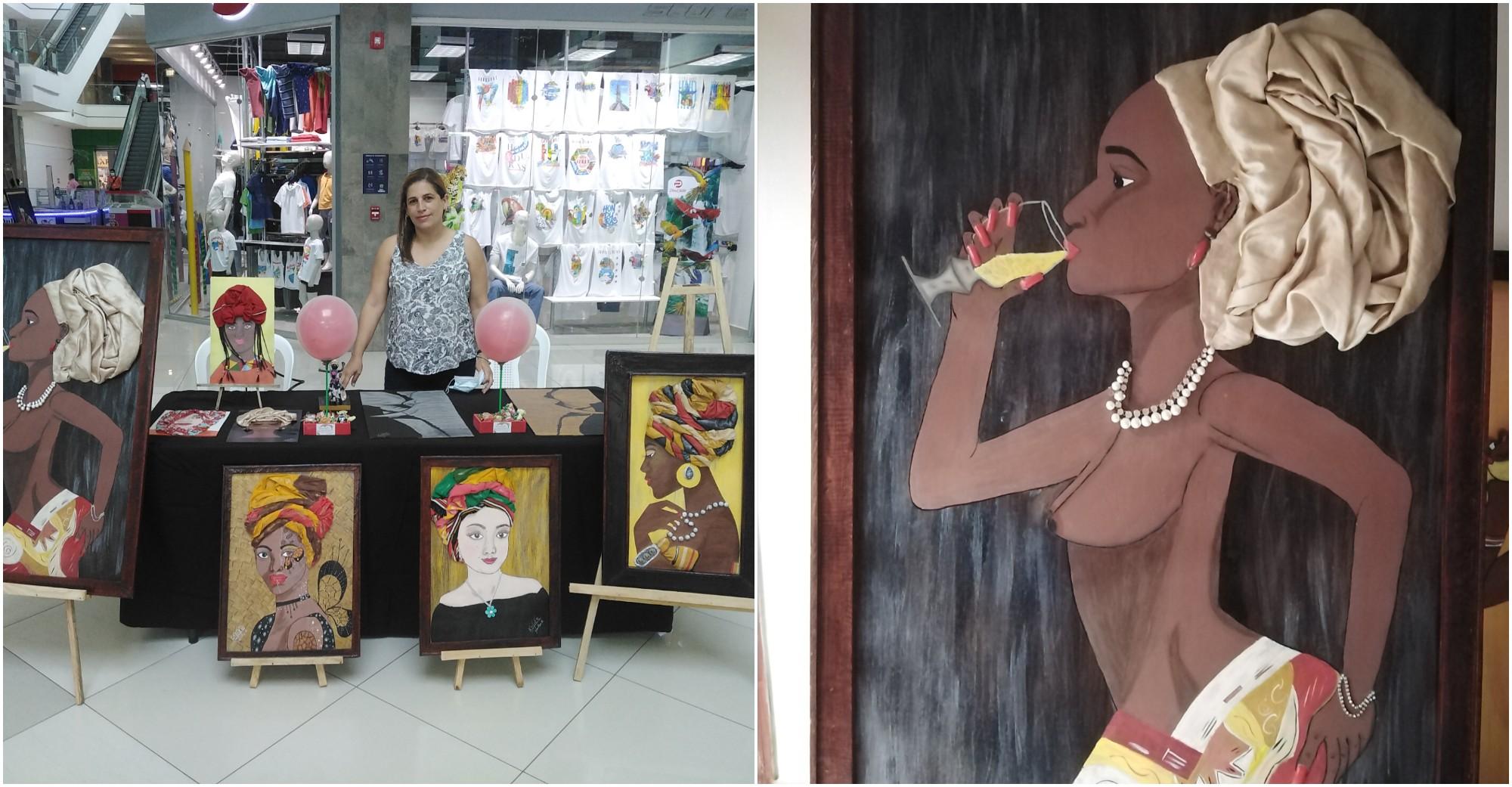 Hondureña Yaritza Rodríguez, crea hermosas pinturas en 3D