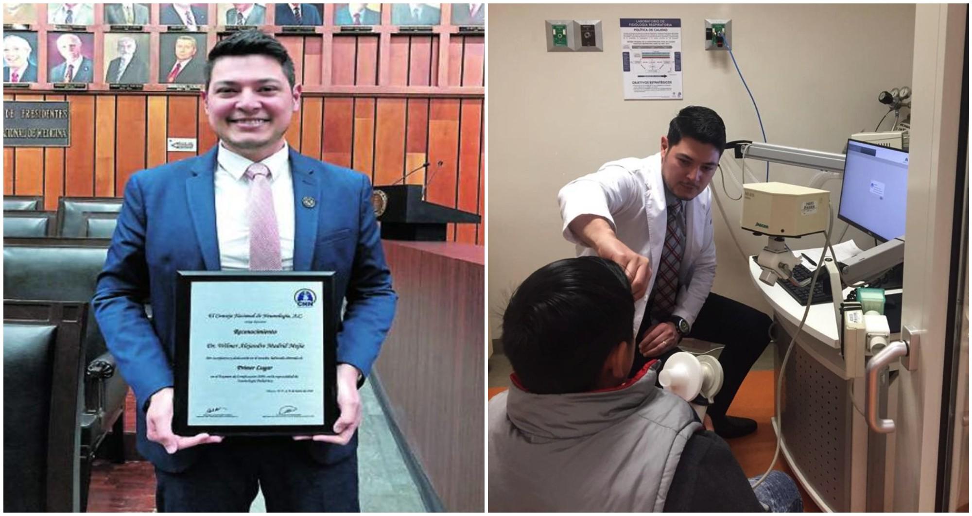 Hondureño triunfa en el extranjero como neumólogo y pediatra