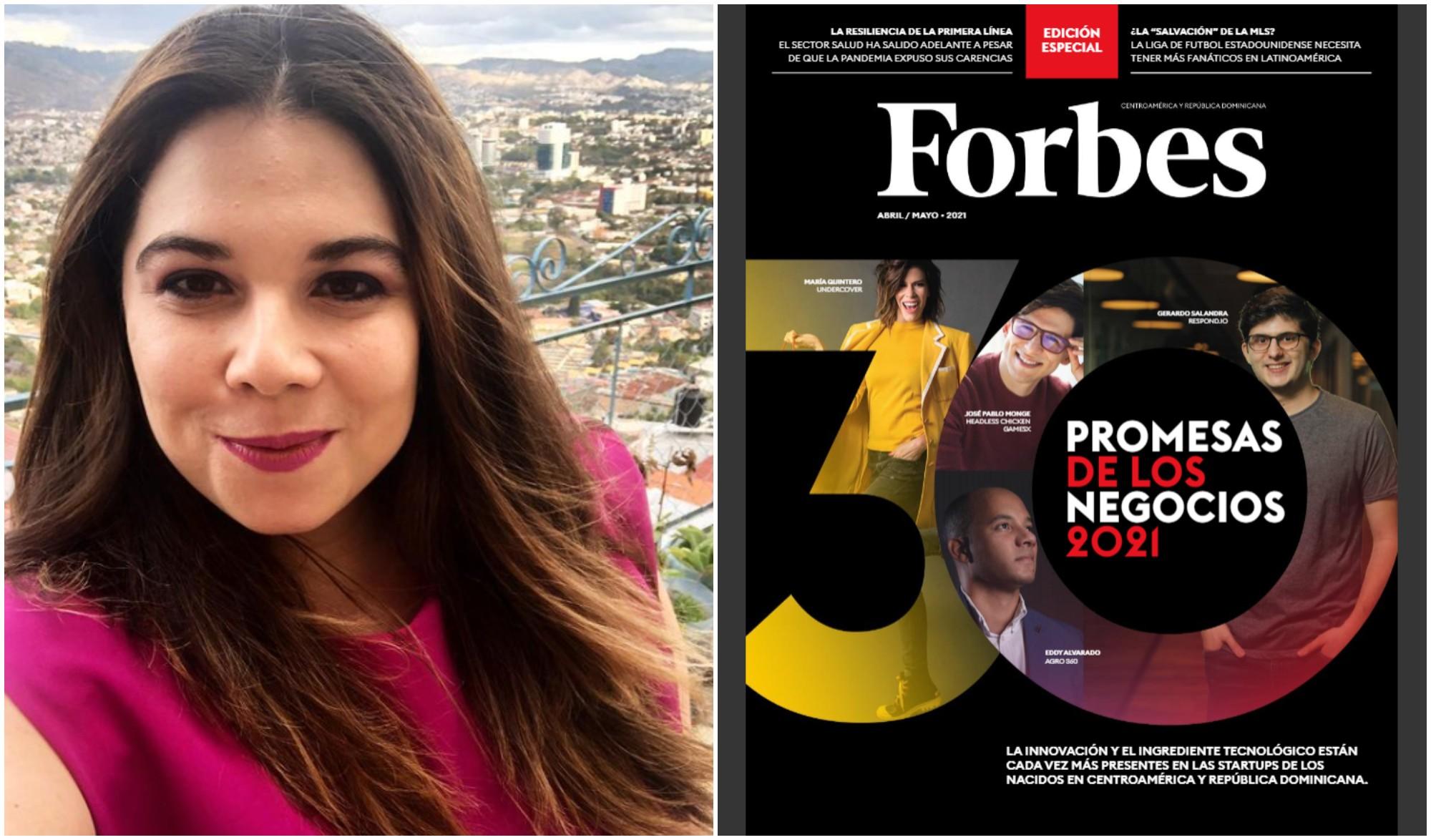 Forbes destaca a hondureña como «promesa de negocios 2021»