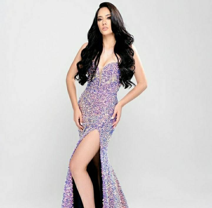 Miss Honduras Cecilia Rossell para Miss Universo