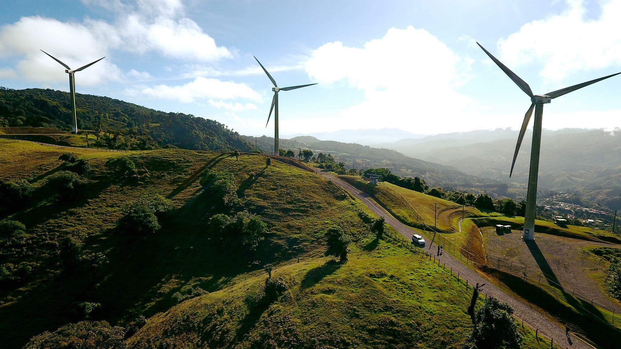 Cerro de Hula, parque eólico cerca de Tegucigalpa
