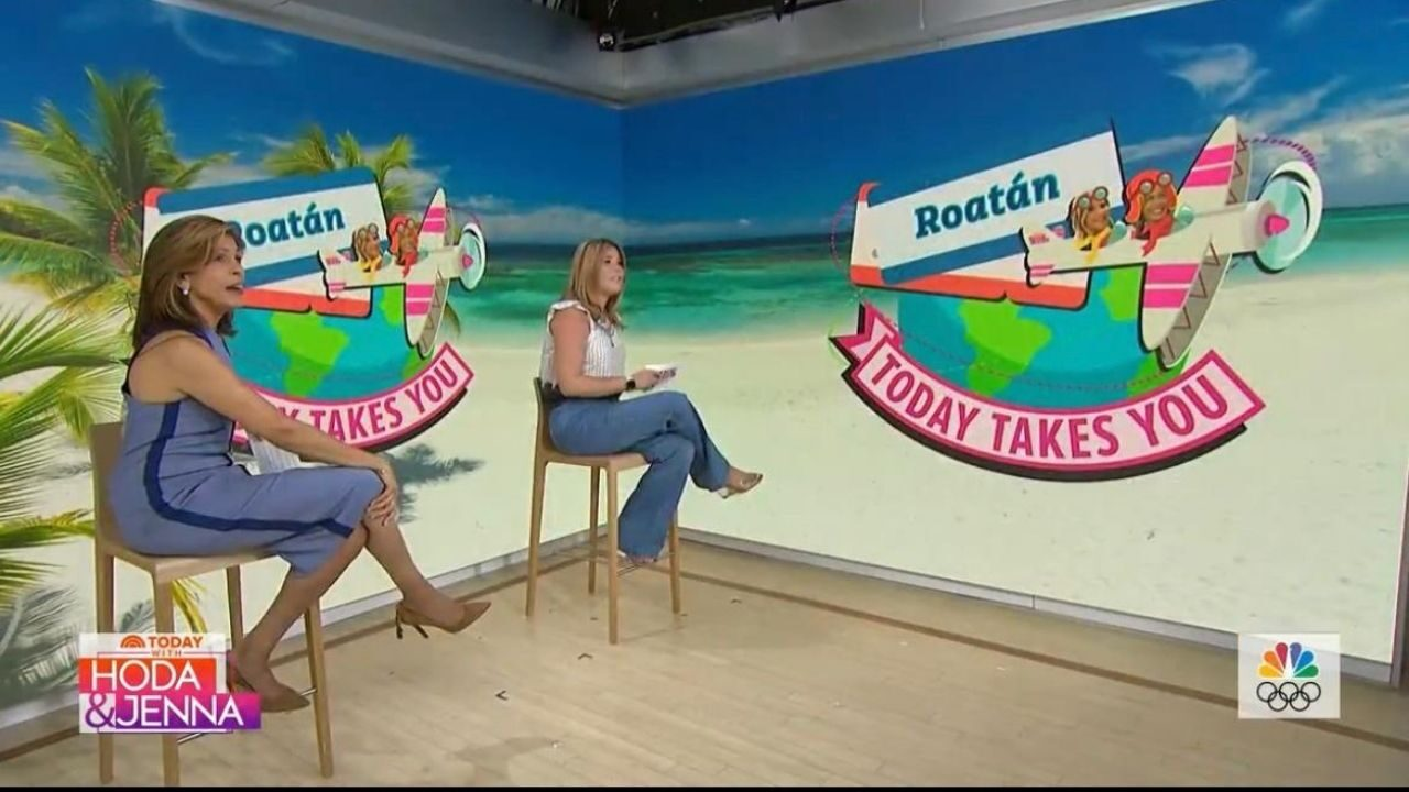 Programa de NBC «Today with Hoda & Jenna» destacó la Isla de Roatán