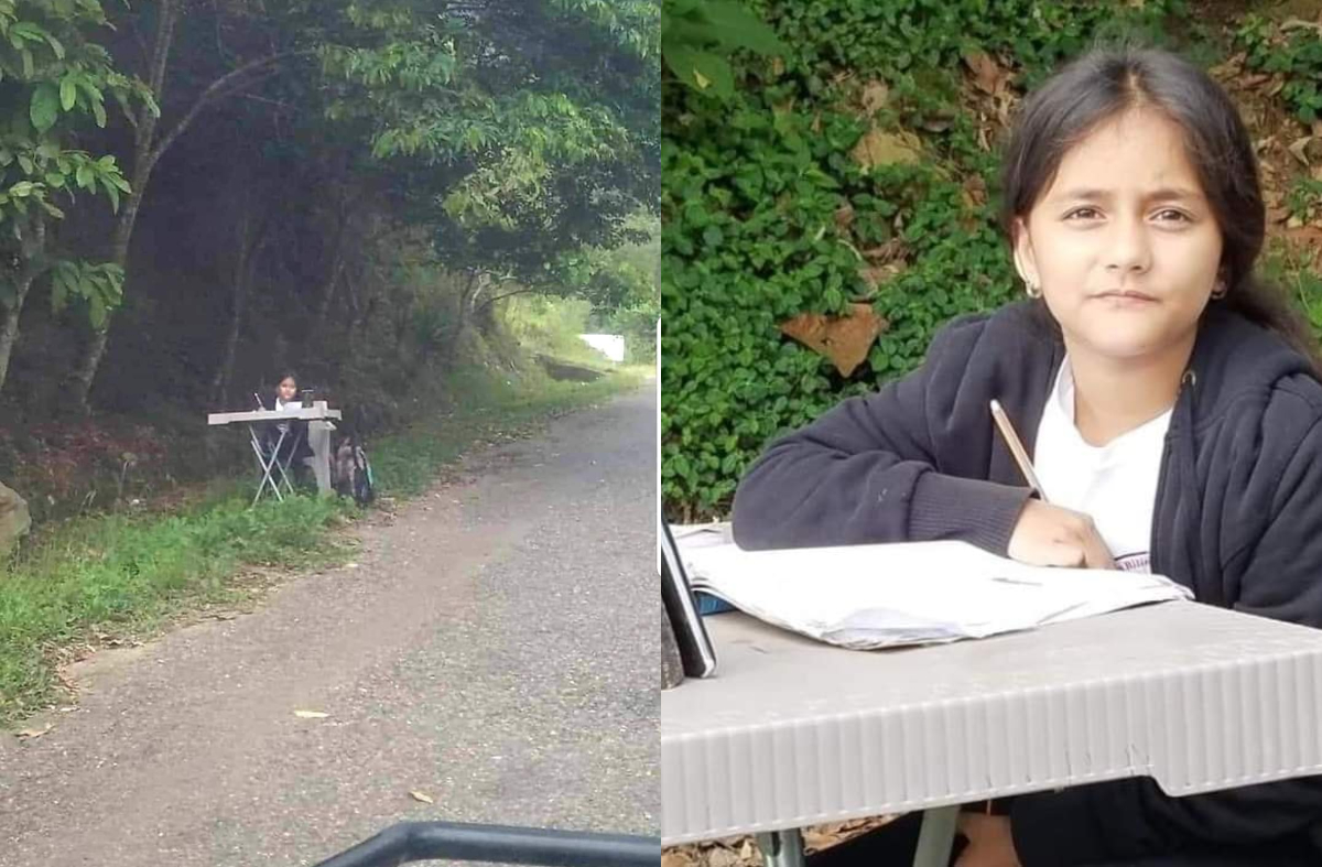 Niña hondureña recibe internet gratis para recibir clases
