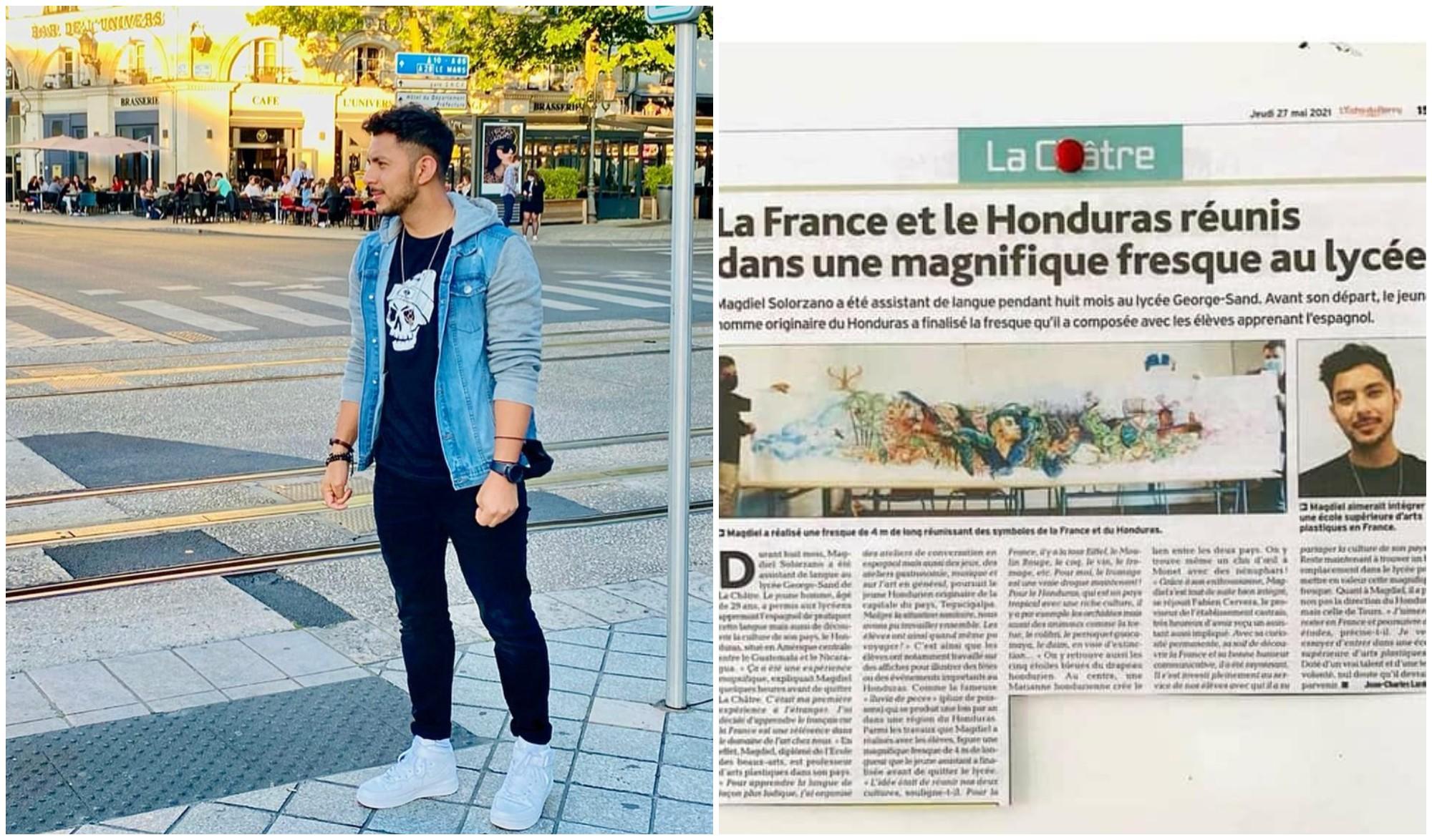 Periódico francés destacó al hondureño Mack Nuñez y su trabajo