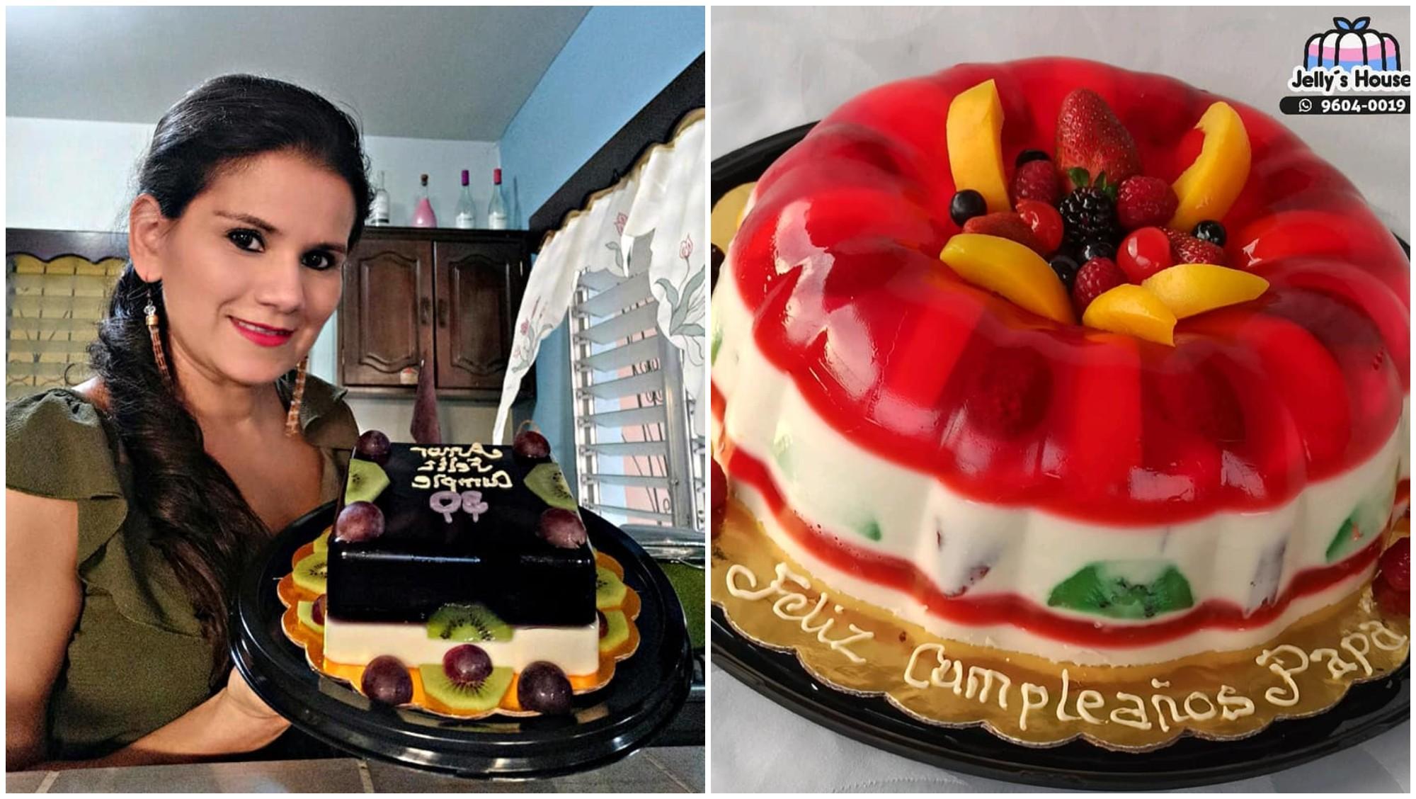 Hondureña emprende con pasteles de gelatina y es una sensación