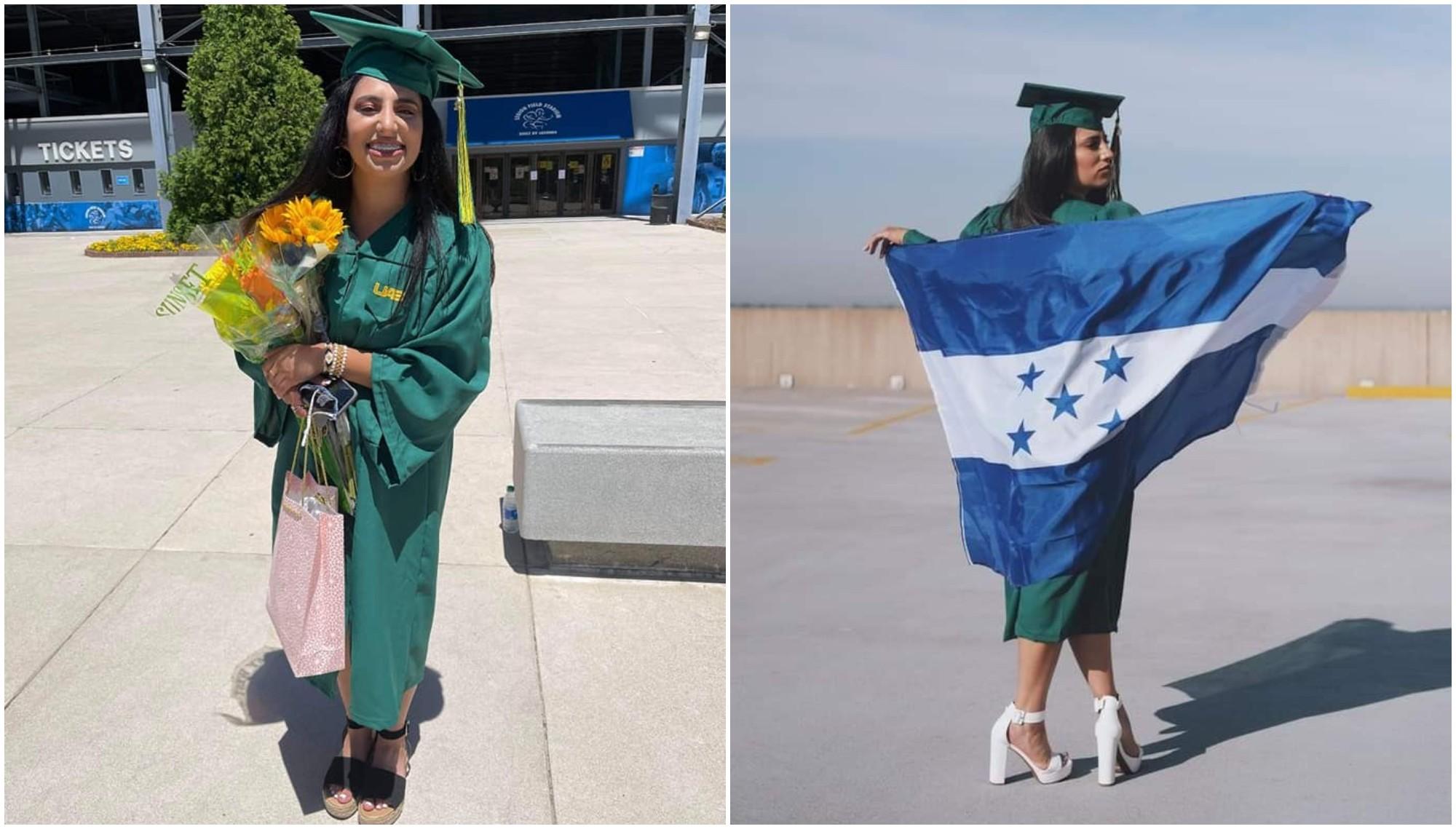 Hondureña se graduó con honores en la universidad de Alabama
