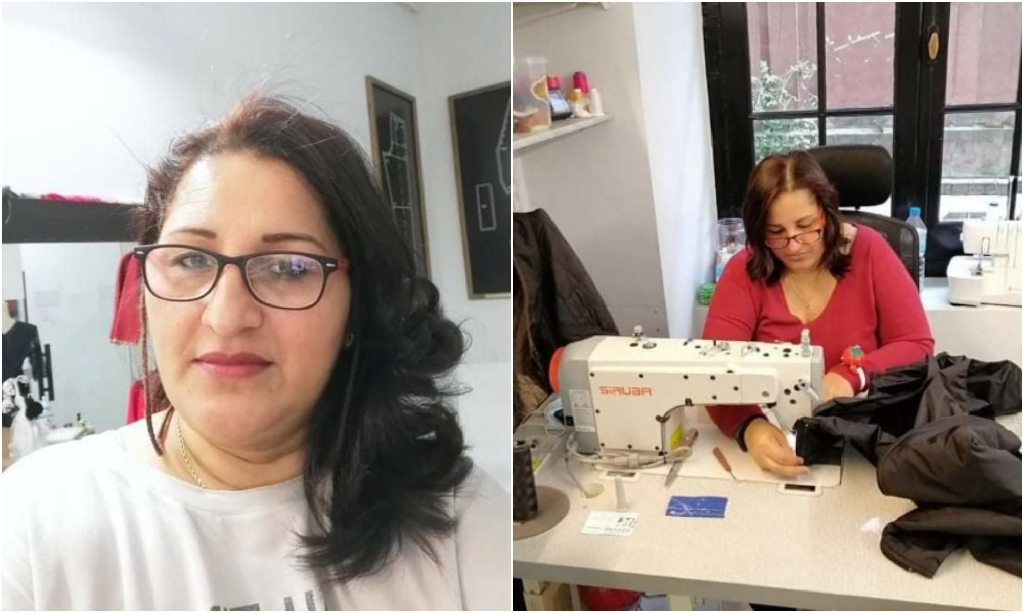 Hondureña destaca con negocio de modista en España