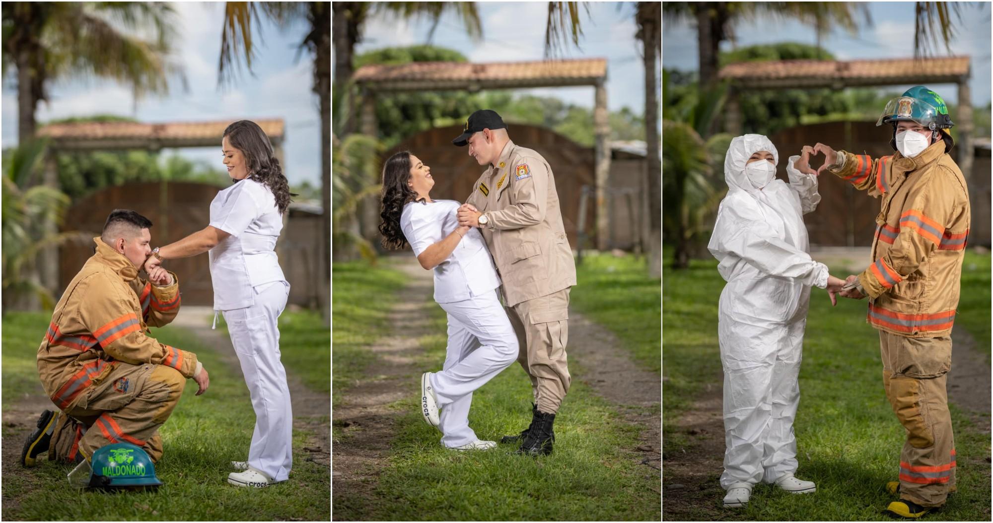 Enfermera y bombero en primera línea se casaran en Ocotepeque