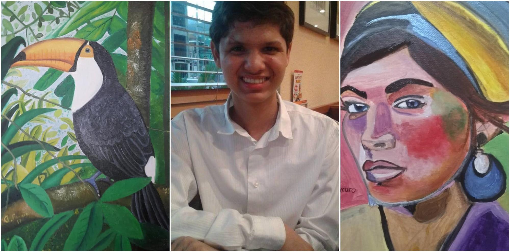 Hondureño Alejandro Ferraro destaca con sus hermosas pinturas